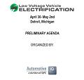 3rd Low Voltage Vehicle Electrification Summit Agenda