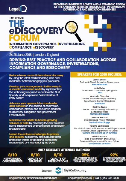 2018 eDiscovery Programme