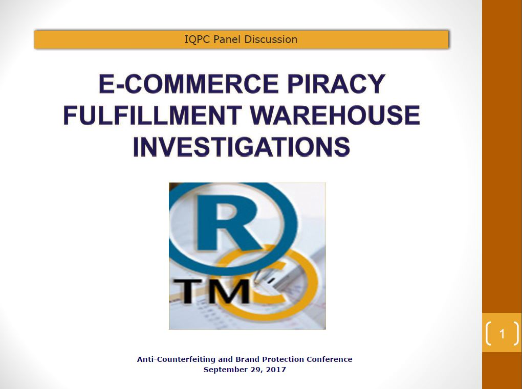 E-Commerce Piracy Fulfillment Center Warehouse Investigations