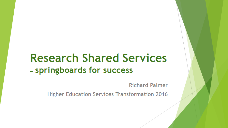 University Wide Framework for Research Support Transformation in Order to Move Towards a Commoditisation Model
