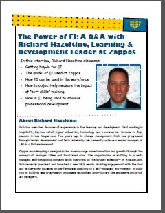 The Power of EI: A Q&A with Richard Hazeltine, Learning & Development Leader at Zappos