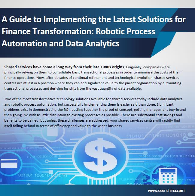 A Guide to Implementing the Latest Solutions for Finance Transformation: Robotic Process Automation and Data Analytics