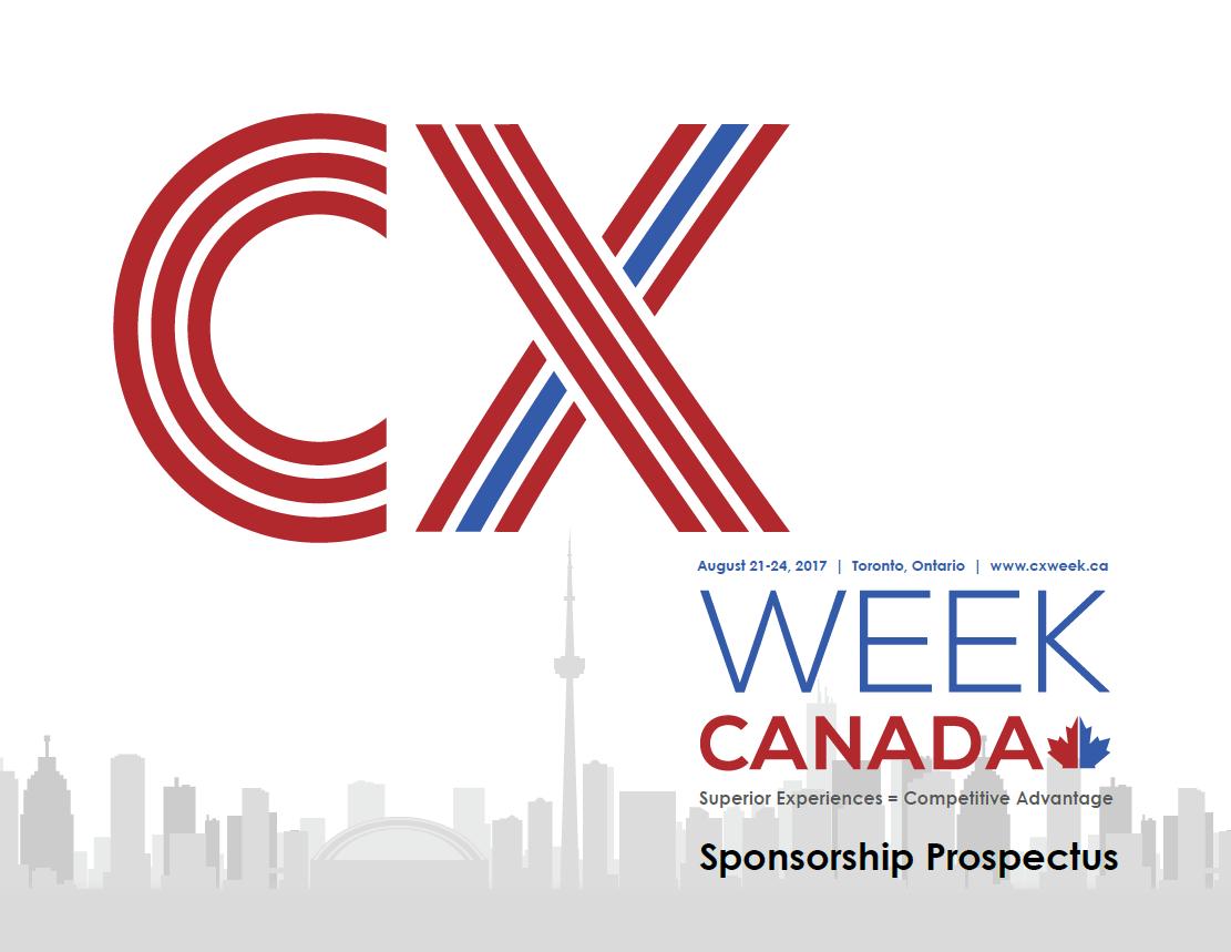 2017 CX Week Canada Sponsorship Prospectus