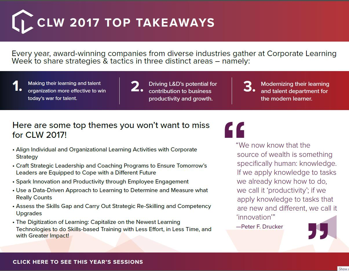 CLW 2017 Top Takeaways