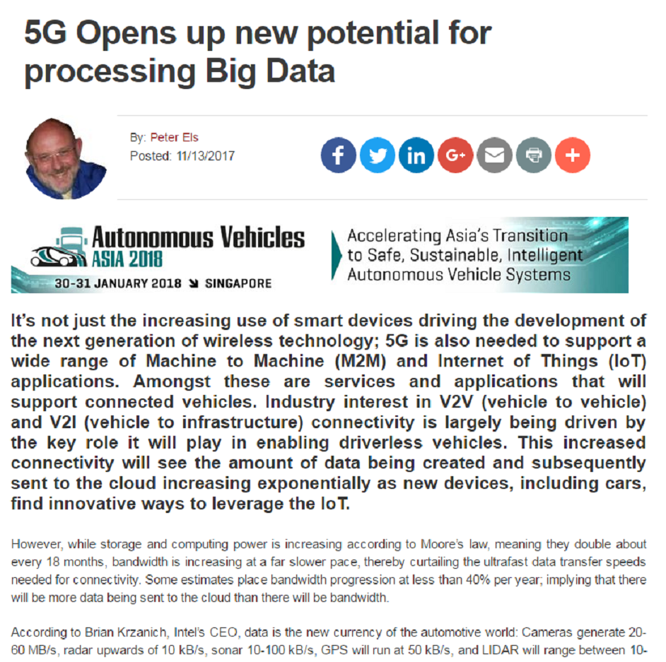 5G Opens Up New Potential For Processing Big Data