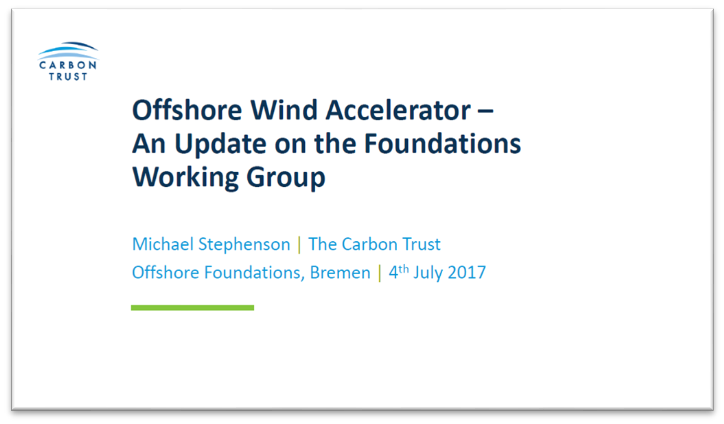Carbon Trust's presentation on Offshore Wind Accelerator