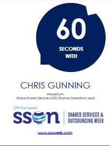 60 Seconds with Chris Gunning  | Shared Services and Outsourcing Week