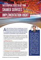 The Essential Steps to get your Shared Services Implementation Right