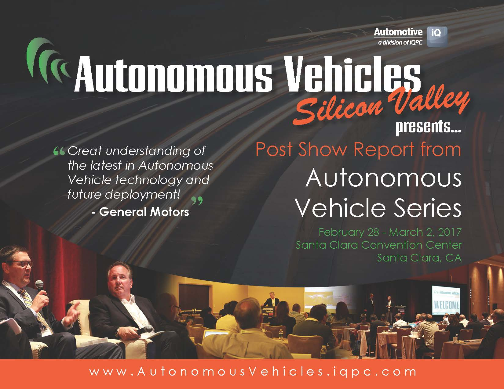 Post Show Report Autonomous Vehicles Series