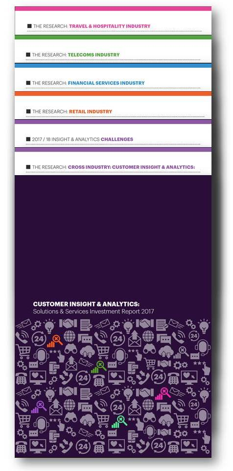 INVESTMENT REPORT 2017: Customer Insight & Analytics Solutions & Services