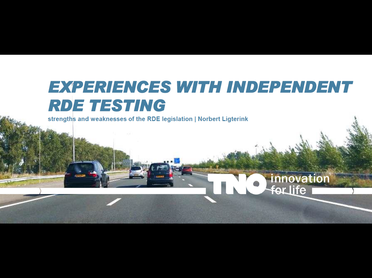 TNO Presentation on Experiences with Independent RDE Testing