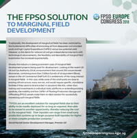 The FPSO Solution to Marginal Field Development