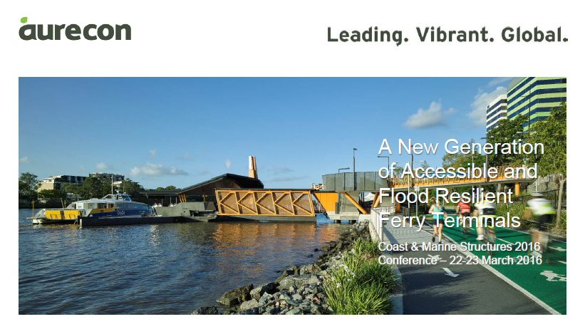 A New Generation of Accessible and Flood Resilient Ferry Terminals