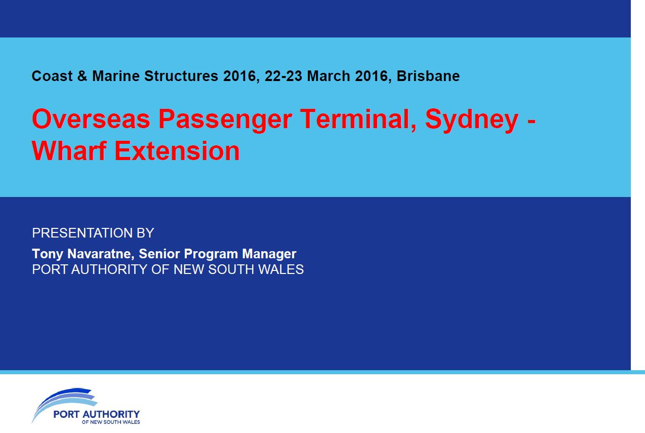 Overseas Passenger Terminal, Sydney - Wharf Extension