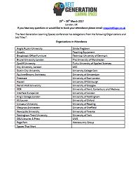 2017 Delegate List