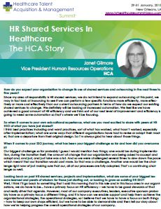HR Shared Services In Healthcare: The HCA Story