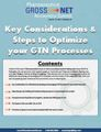 Key Considerations & Steps to Optimize your GTN Processes