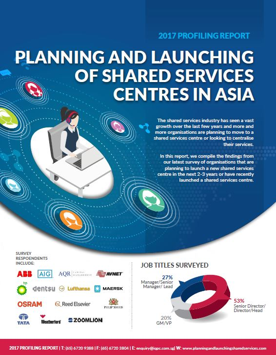 2017 Profiling Report: Planning and Launching of Shared Services Centres in Asia