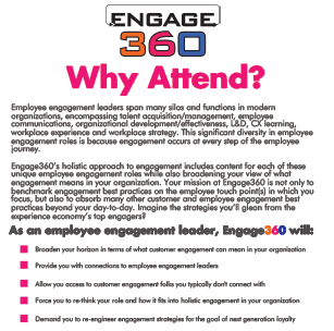 Employee Engagement Leaders: Why You Should Attend Engage360