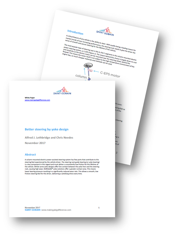 Better steering by yoke design - a whitepaper by Saint Gobain