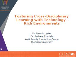 Fostering Cross-Disciplinary Learning with Technology-Rich Environments