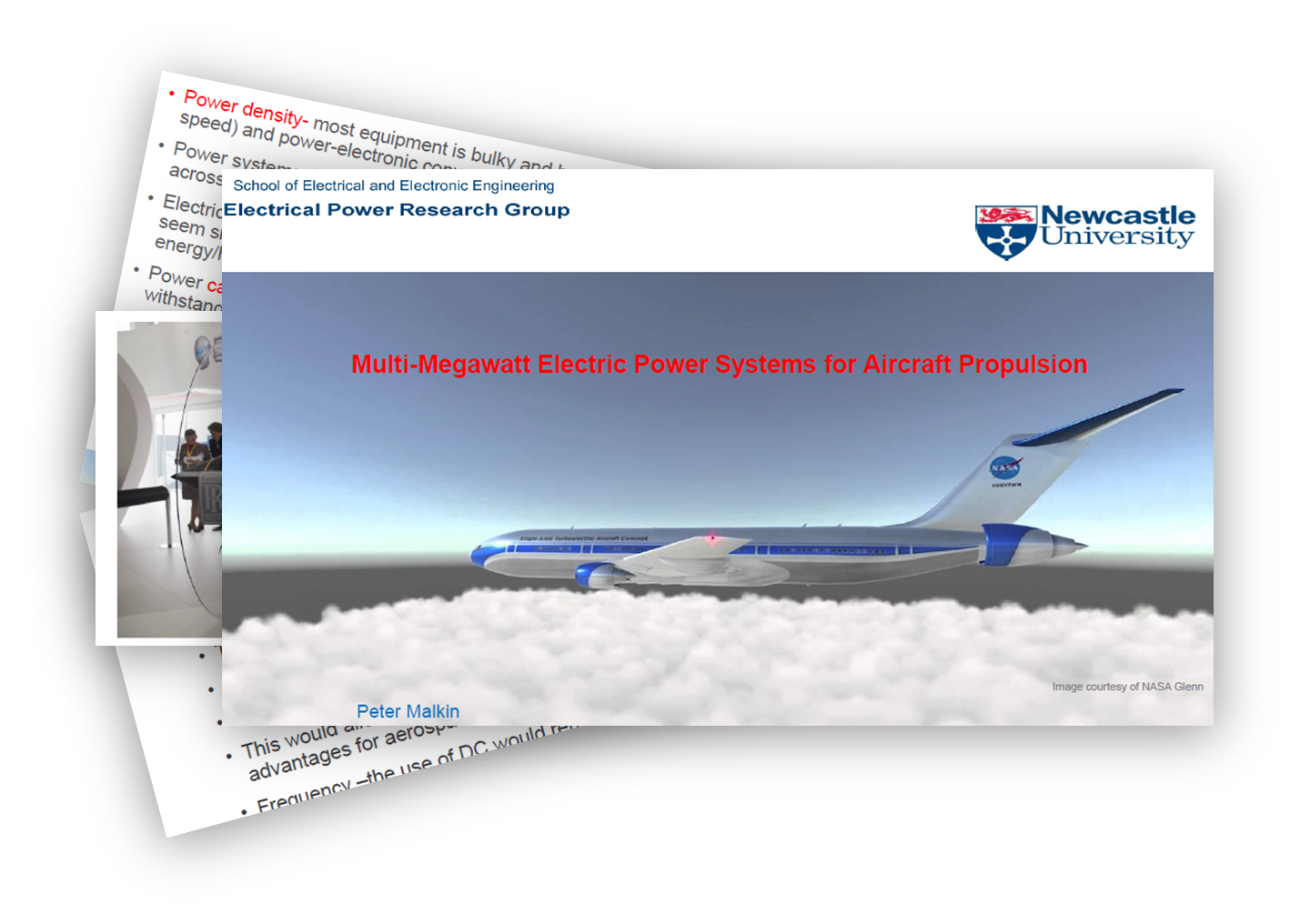 Multi-Megawatt Electric Power Sytems for Aircraft Propulsion