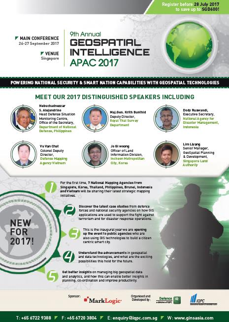 9th Annual Geospatial Intelligence APAC 2017 Brochure