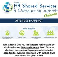 HR Shared Services & Outsourcing Summit Current Attendee List