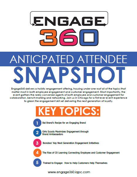 Engage 360: Anticipated Attendee Snapshot