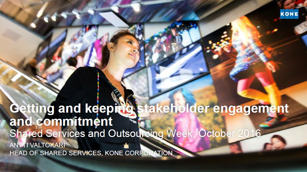 Getting and keeping stakeholder engagement and commitment
