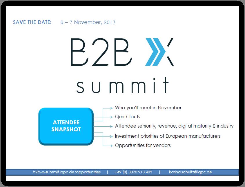 B2B X Attendee Profile & Industry Insights