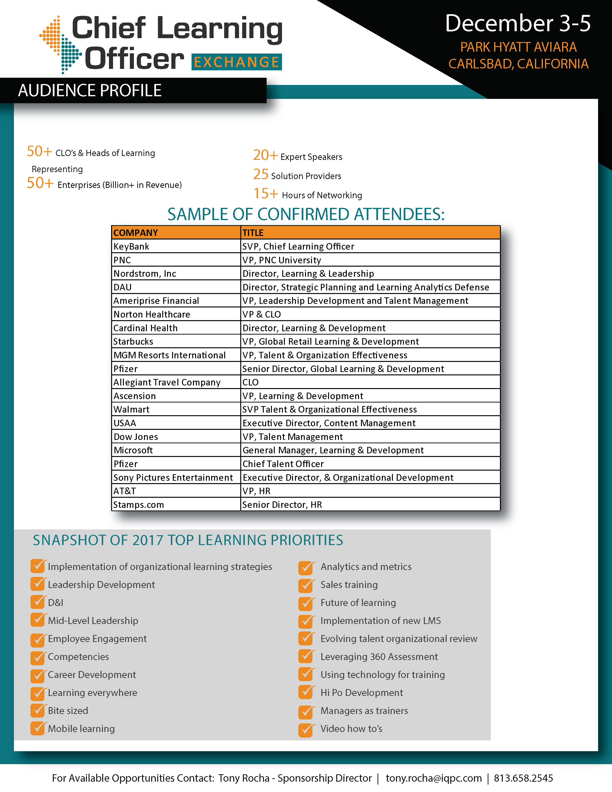 2017 Attendees List
