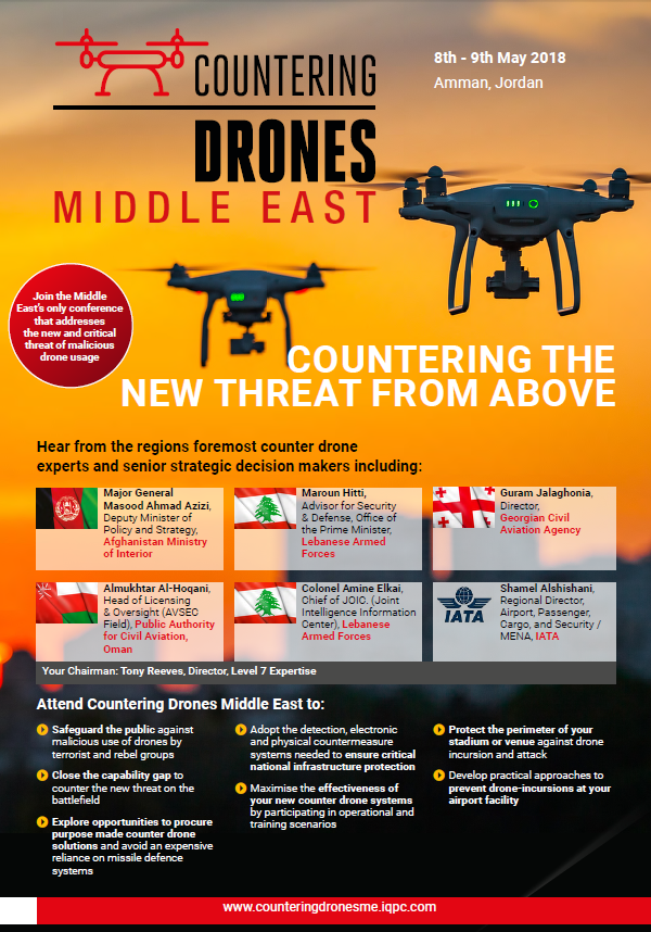 Countering Drones Middle East Agenda 2018