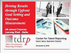Driving Results through Upfront Goal Setting and Outcome Measurement