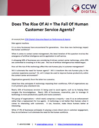 Does The Rise Of AI = The Fall Of Human Customer Service Agents?