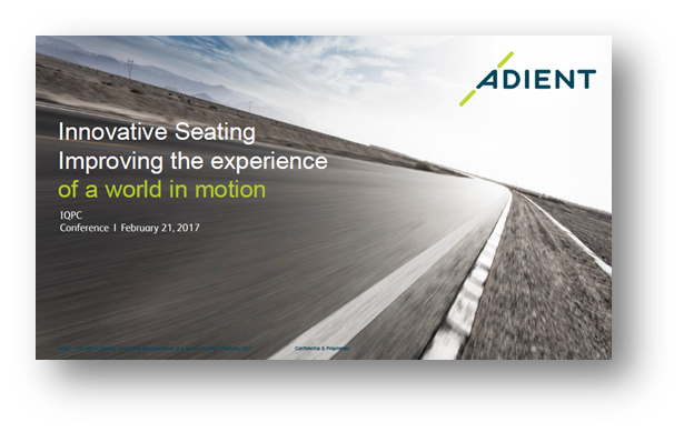 Adient's presentation on Innovative seating 2025 and beyond