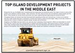 Island Development Projects in the Middle East