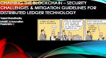 Chaining the blockchain - security challenges & mitigation guidelines for distributed ledger technology
