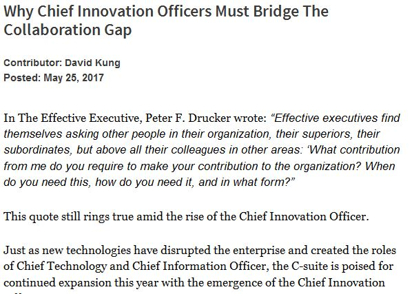 Why Chief Innovation Officers Must Bridge The Collaboration Gap