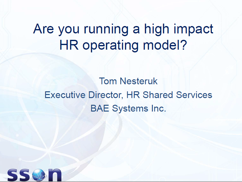 Are you running a high impact HR operating model, Tom Nesteruk