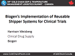 Biogen's Implementation of Reusable Shipper Systems for Clinical Trials