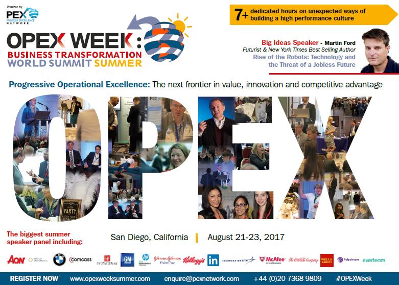 OPEX Week Summer Agenda 2017