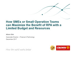 How SMEs or Small Operation Teams can Maximize the Benefit of RPA with a Limited Budget and Resources