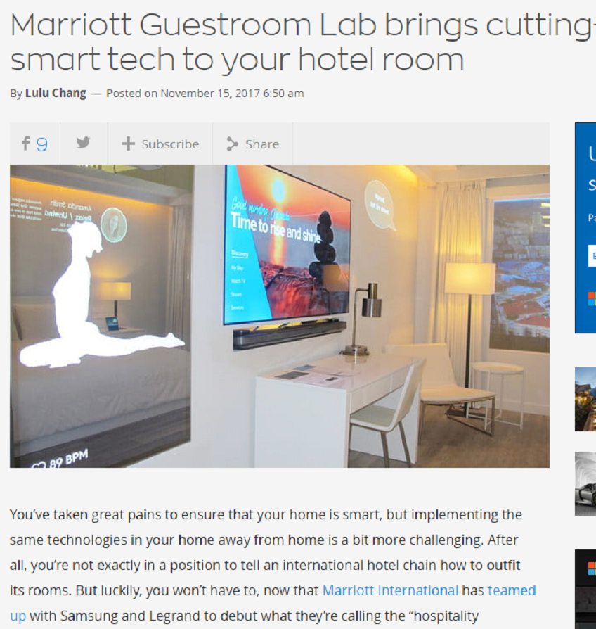 Marriott Guestroom Lab Brings Cutting-Edge Smart Tech To Your Hotel Room