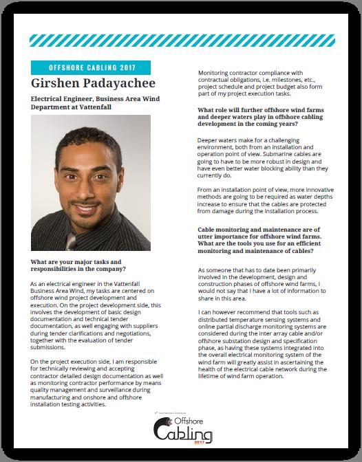 Q&A Girshen Padayachee, Vattenfall