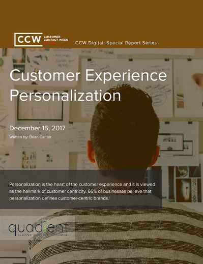 Special Report: Customer Experience Personalization