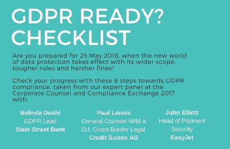 GDPR Ready? Checklist