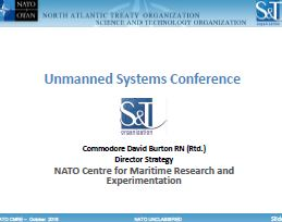 NATO Centre for Maritime Research & Experimentation UMS Priorities