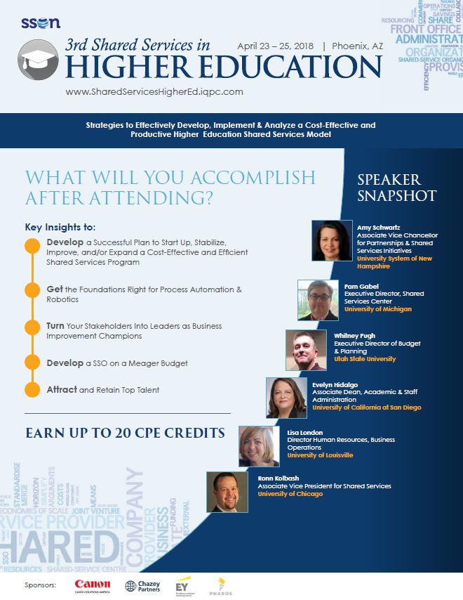 3rd Shared Services in Higher Education Agenda