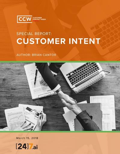 Special Report: Customer Intent